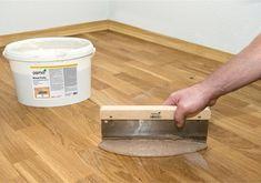 Osmo Wood Putty Parquet Flooring Gap Filler - Osmo UK Stockists - Re-Finish It! - Welcome Haar Design Old Wood Floors, Rustic Wood Floors, Painted Wood Floors, Refinishing Hardwood Floors, Parquet Flooring, Flooring Ideas, Hardwood Floor Repair, Wood Putty, Diy Home Repair