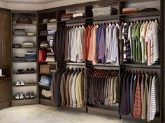 Custom Closet with double hang