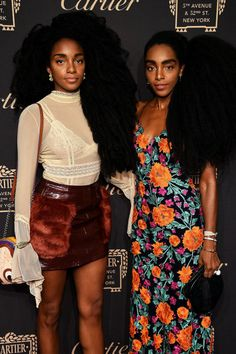 soph-okonedo: TK Wonder and Cipriana Quann attend the Cartier Quann Sisters, Cipriana Quann, Tk Wonder, Afro Punk Fashion, Twin Models, Casual Couture, Hair Icon, Beautiful Black Girl, Big Girl Fashion