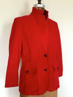 Red Corduroy FLAHS BLAZER Tan Suede Elbow Patches Made in Hong Kong Size  Medium (10) Vintage 1980s 9f5e1e371efe