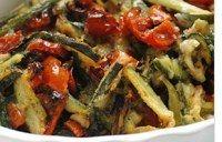 zucchine al forno con rucola