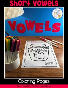 Your Students will ADORE these Coloring Book Pages for Short Vowels! Add it to your plans to compliment any Short Vowels Unit! 50 Coloring Pages For Some Short Vowel Fun! Perfect for bulletin bo Second Grade Teacher, First Grade Classroom, First Grade Math, Short I Words, Classroom Management Tips, Short Vowels, Writing Lessons, Kindergarten Worksheets, Addition And Subtraction