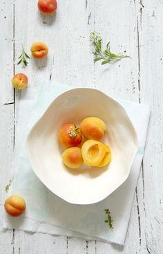 Apricot salad with cheese, pistachios and French vinaigrette