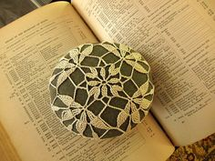 Crocheted Beach Stone Flora. $20.00, via Etsy.