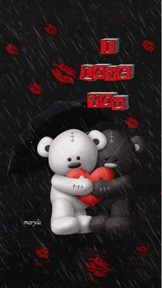 I Love You hearts animated valentines day valentine's day valentines valentines… Decent Image Scraps: I Love You Charlee lee :) We share our heart ♥ Robbie and Mom forever I love you teddy bears under umbrella raining rose petals gif GIPHY is your top I Love You Pictures, Love You Gif, Love Images, Beautiful Pictures, I Love You Animation, Valentine Day Love, Love Wallpaper, Mobile Wallpaper, Cute Love