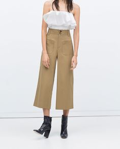 Image 3 of CROPPED STUDIO TROUSERS from Zara
