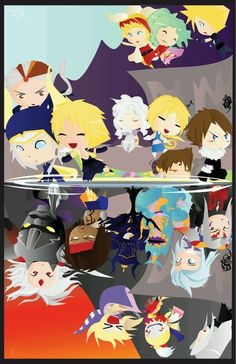 Quite a cute illustration for Dissidia.