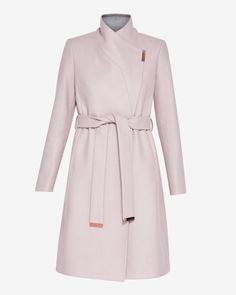 Wool-cashmere wrap coat - Dusky Pink | Jackets And Coats | Ted Baker
