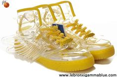 Wholesale Discount Adidas X Jeremy Scott Wings Clear Shoes Yellow Fashion Shoes Shop