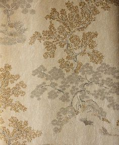 Oriental Tree Wallpaper Silver mica wallpaper with black and gold chinese tree design