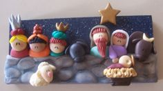 Christmas Clay, Christmas Jesus, Halloween Christmas, Xmas, Porcelain Clay, Cold Porcelain, Clay Crafts, Diy And Crafts, Biscuit