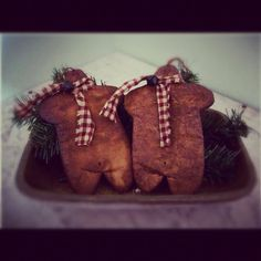 Primitive gingerbread ornaments