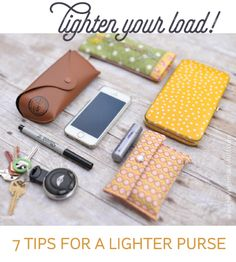 Stop carrying around so much stuff! Here are seven tips to help lighten your load and take a weight off your shoulders -- literally!