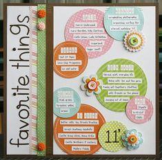 Favorite Things 2011 scrapbook layout by Laura Vegas