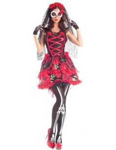 day of the dead costumes | Day of the Dead Senorita Costume (ref: 76208 )