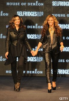 Bey n Mum Tina In London To Launch Their Brand House Of Dereon