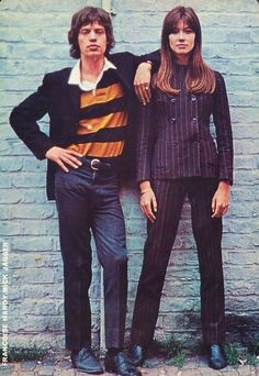 Mick Jagger and Françoise Hardy, October 1965.