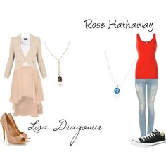 vampire academy by cbull on Polyvore, featuring cadsawan's Dragon Egg Necklace on Lissa Dragomir & Nazar / Evil Eye Necklace on Rose Hathaway!
