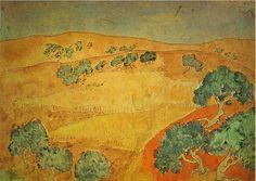 1902-Barcelona, paisaje de verano