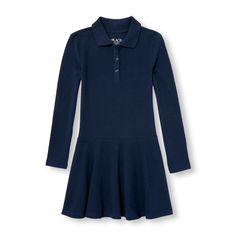 Girls Uniform Long Sleeve Polo Dress | The Children's Place