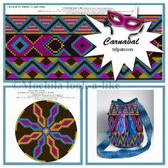 Worki mochilla i wayuu Mochila Crochet, Bag Crochet, Form Crochet, Crochet Cross, Crochet Purses, Crochet Chart, Crochet Blocks, Tapestry Crochet Patterns, Crochet Stitches Patterns