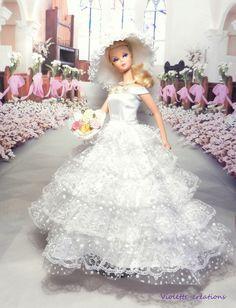 b2e74084c144 robe de mariée pour poupée barbieBarbie fashionistas barbie Jolies Tenues,  Jolies Robes, Vêtements Barbie