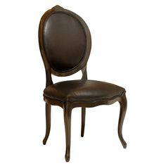 Black Round Back Dining Chair #ReupholsterChair