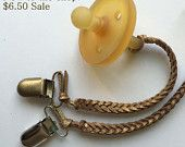 Gold glitter binky clip NOW on sale for 6.50!