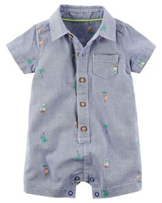 Baby Boy Tropical Embroidered Romper from Carters.com. Shop clothing & accessories from a trusted name in kids, toddlers, and baby clothes.