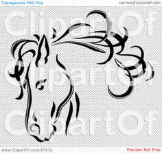 Carousel Horse Drawings Illustration Of A Black Line Art