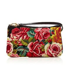 Clever Carriage Needlepoint and Leather Crossbody