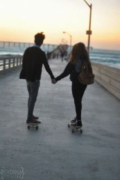 Hayden & Natalie when they went on a trip to Paris.They skateboarded all the way home.Isn't that just romantic.Not really. :)