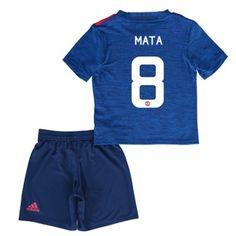 Manchester United Fotballklær Barn 16-17 Juan Mata 8 Bortedraktsett Kortermet   #billige  #fotballdrakter