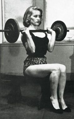 Biceps: A Pictorial History of Muscular Women Vintage fitness model. It's so ladylike to lift them weights! It's so ladylike to lift them weights! Diet Motivation Pictures, Fitness Motivation, Training Motivation, Fitness Workouts, Workout Routines, Female Motivation, Fitness Routines, Workout Tips, Training Tips