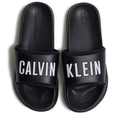 CALVIN KLEIN Slippers (€88) ❤ liked on Polyvore featuring shoes and slippers