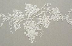 Raised Plaster Freestyle Grapes Stencil Wall Stencil Painting Stencil | VictoriaLarsen - Craft Supplies on ArtFire