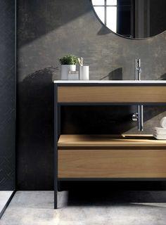 Furniture, Bathroom Furniture, Interior, Home, Lighted Bathroom Mirror, New Homes, Bathroom Mirror, Glamorous Bathroom, Bathroom Design