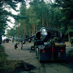 1 Squadron Hawker Siddeley Harrier during Exercise SNOWY OWL, a field deployment exercise held in March 1972 Fighter Aircraft, Fighter Jets, British Aerospace, Close Air Support, Royal Engineers, British Armed Forces, Military Life, Military History, Royal Air Force