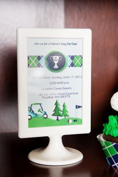 Golf Father's Day party ideas or for a cool Golf themed birthday too! - BirdsParty.com