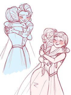 Anna and elsa drawing elsa frozen, disney frozen, frozen love, frozen art, Frozen Disney, Elsa Frozen, Frozen Love, Frozen Art, Disney Sketches, Disney Drawings, Disney Fan Art, Disney Love, Elsa Drawing