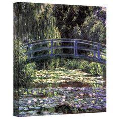 Claude Monet ''Bridge at Sea Rose Pond'' Canvas Art