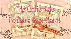 The Christmas Foldable Box Card! - YouTube Right Brain, Creative Video, Journal Covers, Folded Cards, Junk Journal, Mini Albums, Box, Youtube, Craft Projects