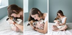 Cliche photo shoot with dog like baby. Genius! I have always wanted to do this! http://www.buzzfeed.com/rachelzarrell/a-baby-photographer-did-a-cliche-newborn-photoshoot-starring?bftw=main