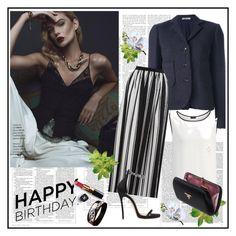 """Happy Birhday Regina♥♥♥♥♥"" by marthalux ❤ liked on Polyvore featuring Nina Ricci, Joseph, Blugirl, Prada, Dsquared2, Hermès, Chanel and Victoria Beckham"