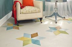 How to liven up your wood floors with a star pattern. | Photo: Mark Samu | thisoldhouse.com