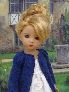 "Just Like Lizzy-LD--PDF Knitting Pattern for Dianna Effner's 13"" Little Darling Studio Dolls"