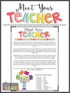 The First Grade Parade: Meet the Teacher Tips & Ideas