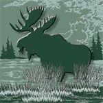 Wildlife Tile Design_Whitetail Deer, Moose, Elk, Mule Deer, Bear, Wolf etc. Sage Collection