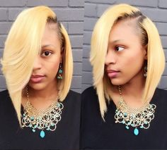 @Thehairicon And Her Blonde Bob-shell - http://community.blackhairinformation.com/hairstyle-gallery/short-haircuts/thehairicon-blonde-bob-shell/