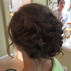Up styling on a bridesmaid by classic pgh